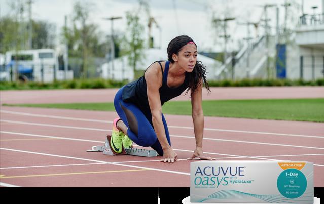ACUVUE® Brand Ambassador Katarina Johnson-Thompson on the track
