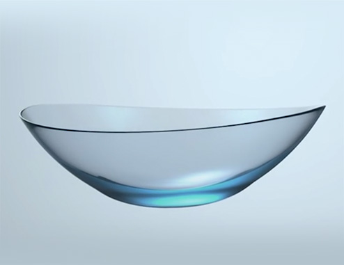 An image of a contact lens